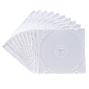 DVD・CD薄型ケース(10枚セット・マットホワイト・5mm)