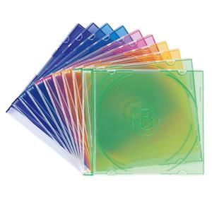 DVD・CD薄型ケース(10枚セット・5色ミックス・5mm)