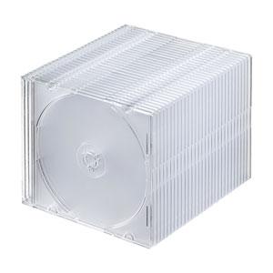 CD・DVD・ブルーレイ ケース(スリム・30枚セット・クリア)