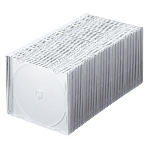 CD・DVD・ブルーレイ ケース(スリム・50枚セット・マットホワイト)