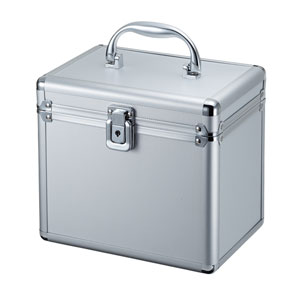 メディアボックス(アルミ製・鍵付き・ブルーレイディスク対応・100枚収納)