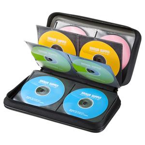DVD・CDセミハードケース(96枚収納・ブラック)
