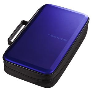 ブルーレイディスク対応セミハードケース(104枚収納・ブルー)