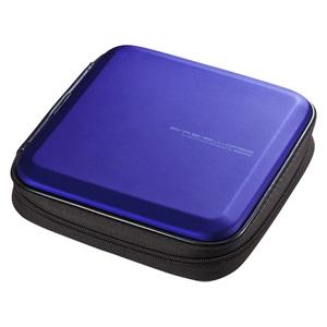 ブルーレイディスク対応セミハードケース(24枚収納・ブルー)