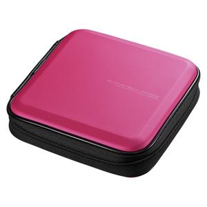 ブルーレイディスク対応セミハードケース(24枚収納・ピンク)