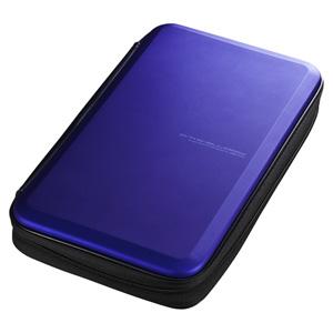 ブルーレイディスク対応セミハードケース(56枚収納・ブルー)