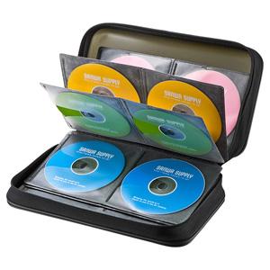 ブルーレイディスク対応セミハードケース(96枚収納・ブラック)