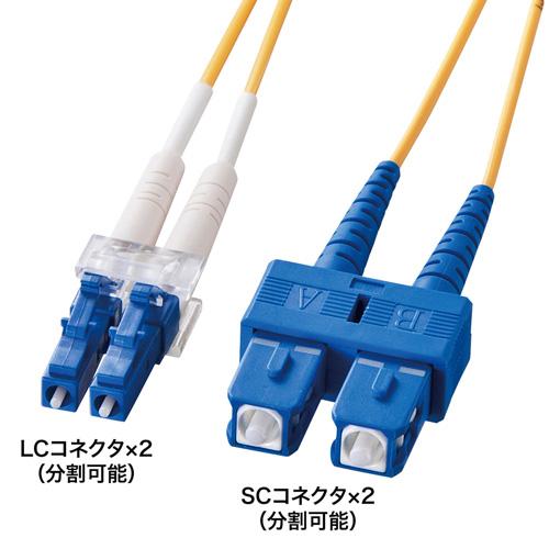 光ファイバーケーブル(LC-SCコネクタ・10ミクロン・1m)