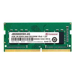 Transcend ノートPC用メモリ 4GB DDR4-2666 PC4-21300 SO-DIMM JM2666HSH-4G