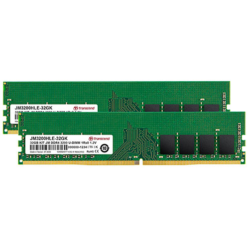 Transcend デスクトップ用メモリ 16GB 2枚セット DDR4 3200 U-DIMM 1Rx8 Dual Kit JM3200HLE-32GK