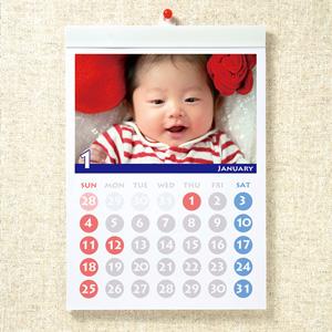 手作りカレンダーキット(壁掛・A4縦長・マット)