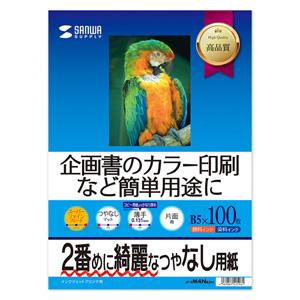 インクジェット用紙(スーパーファイン・B5・100枚)