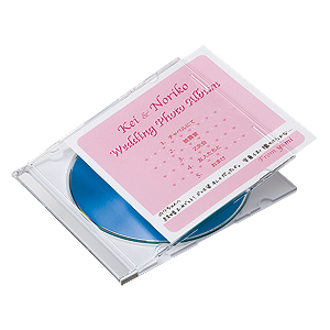CD/DVD インデックスカード・薄手(白紙・100枚入り)
