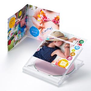 フォト光沢CD・DVDケースカード(見開き)