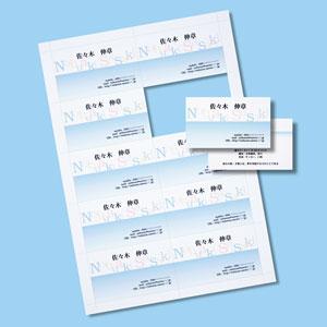 インクジェット名刺カード(標準厚・白・1000カード)