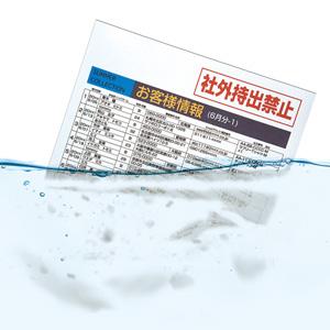 【わけあり在庫処分】水に溶ける用紙(A4・10シート)