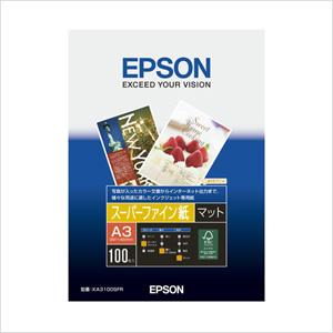 エプソン 純正用紙 スーパーファイン紙(A3・100枚) KA3100SFR【返品不可】