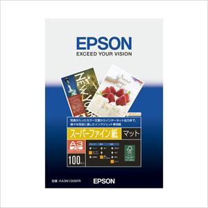 エプソン 純正用紙 スーパーファイン紙(A3ノビ・100枚) KA3N100SFR【返品不可】