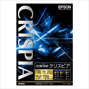 エプソン 純正用紙 写真用紙クリスピア(高光沢・A3ノビ・20枚) KA3N20SCKR【返品不可】