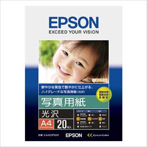 エプソン 純正用紙 写真用紙(光沢・A4・20枚) KA420PSKR【返品不可】