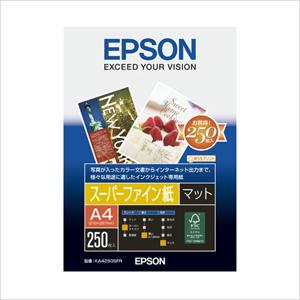 エプソン 純正用紙 スーパーファイン紙(A4・250枚) KA4250SFR【返品不可】