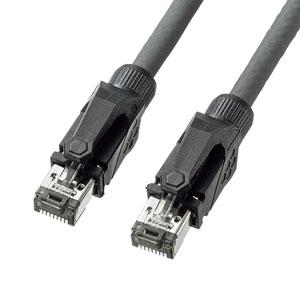 カテゴリ6A STP LANケーブル(グレー・2m)