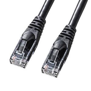 カテゴリ6Aより線LANケーブル(ブラック・1m)