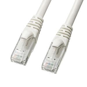 カテゴリ6Aより線LANケーブル(ホワイト・1m)