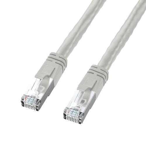 PoE用LANケーブル(Cat6・より線・48V給電対応・20m・ライトグレー)
