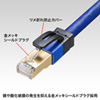 LANケーブル(カテゴリ7A・単線・ストレート・5m・ブルー)