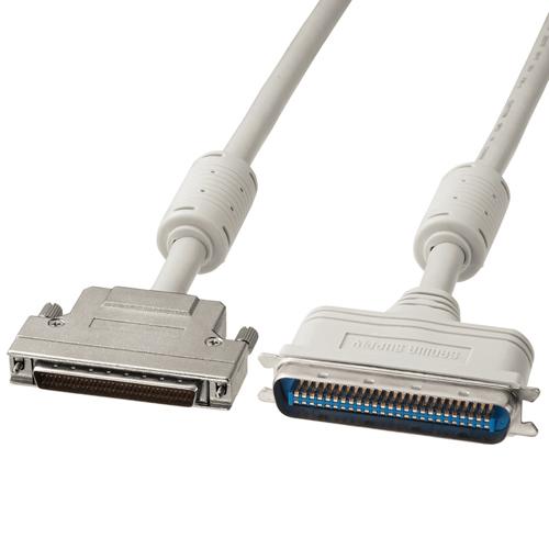 SCSIケーブル(50pinタイプのSCSI機器とピンタイプハーフ68pinのSCSI機器間を接続・1m)