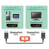 DisplayPortケーブル(スリムタイプ・1m・ブラック)
