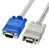 ディスプレイ延長ケーブル(複合同軸・アナログRGB・延長・1.5m)