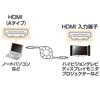 HDMIケーブル(タイプA-タイプA・巻取りケーブル・1.2m)