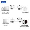 USB2.0ケーブル(type C オス - Aコネクター オス・1.5m)