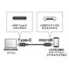 USB2.0 microBコネクタ-Type Cケーブル(ブラック・2m)