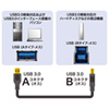 USB3.0対応ケーブル(ブラック・1m・・USB IF認証タイプ)