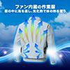 空調服(サンエス製・作業服単体・長袖ワークブルゾン・ポリエステル75%/綿25%・XLサイズ・シルバー)
