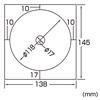 インクジェットDVD・CDラベル(つやなしマット・内径17mm・50シート)