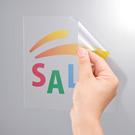 カラーレーザー用透明フィルムラベル