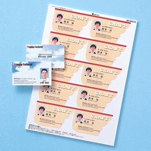 名刺カード(カラーレーザー用・つやなし・マット・10シート)