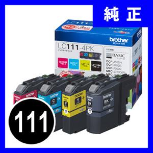 ブラザー LC111-4PK インクカートリッジ 4色パック【返品不可】