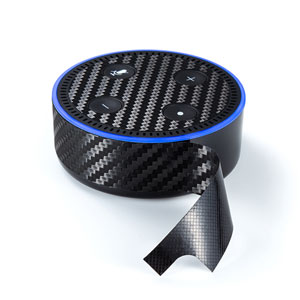 【わけあり在庫処分】Amazon echo Dot第2世代 スキンシール(カーボン調)