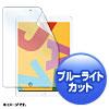 Apple iPad10.2用フィルム(第7世代・液晶保護・ブルーライトカット・指紋防止・光沢)