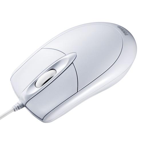 PS/2有線光学式マウス(大型・ホワイト)