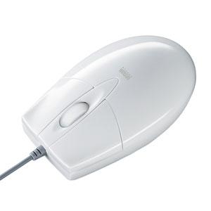 有線マウス(ブルーLED・USB-PS/2変換アダプタ付き・ホワイト)