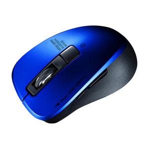静音Bluetooth 5.0 ブルーLEDマウス(5ボタン・ブルー)