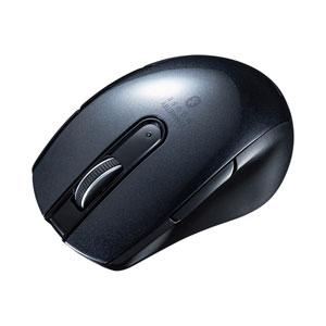Bluetoothマウス(ブルーLED・左右対称・5ボタン・ブラック)