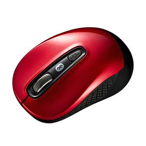 Bluetooth3.0 ブルーLEDマウス(レッド)