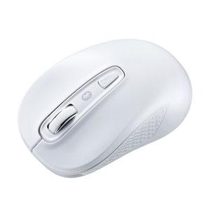 Bluetoothマウス(ブルーLED・左右対称・シンプル・ホワイト)